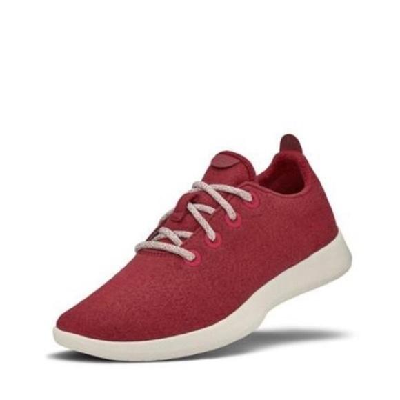 Nwob Allbirds Womens Wool Runners Red